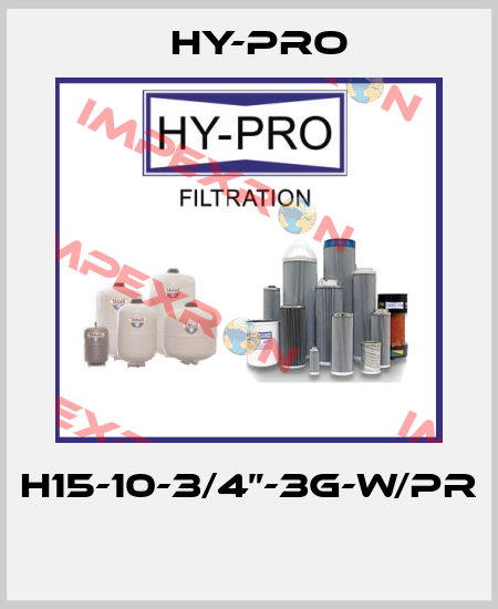 "HY-PRO-H15-10-3/4""-3G-W/PR  price"